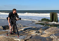 Dan Sets Up a Beach Scene