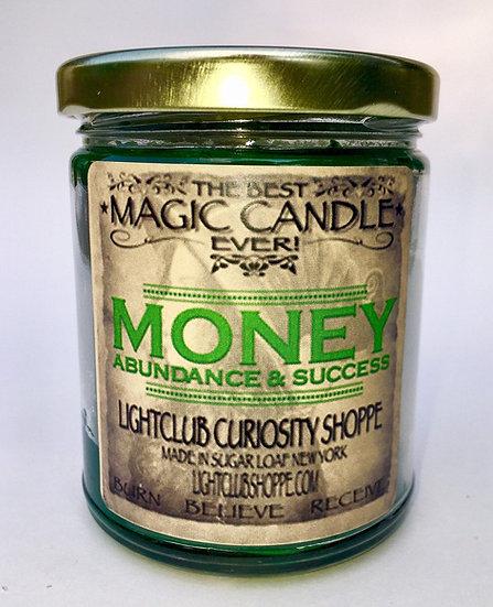 Money & Abundance Spell Candle