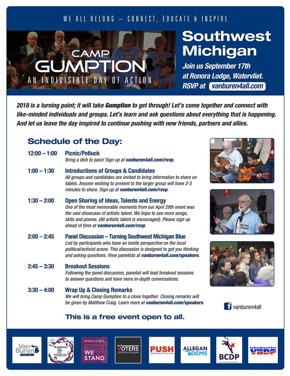 Camp Gumption Flyer, Event 9-17-17
