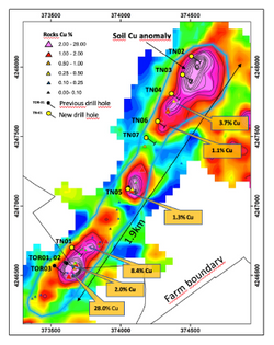 Torrubia North Drill Hole Locations