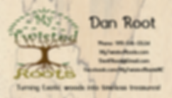 Dan Root business card, My Twisted Roots