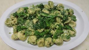 tortellini pesto with broccoli rabe
