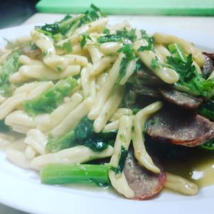 cavatelli with broccoli rad and sausage