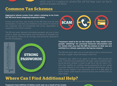 Avoiding Common Tax Scams - Infographic