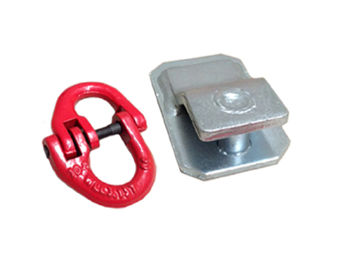 3.15T RATED BUTTERFLY CLIP & WELD-ON  BRACKET - CHAIN CONNECTOR SET
