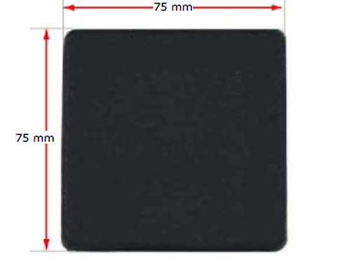 END CAPS BLACK 75x75mm 10pk