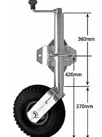 "10""PNEUMATIC SWIVEL JOCKEY WHEEL"
