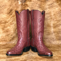 Mens Top to Bottom Ostrich Boots