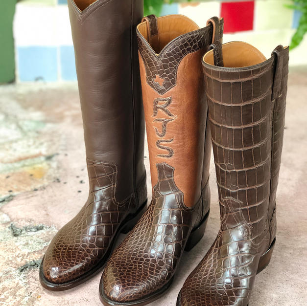 His and Hers Custom Alligator Boots