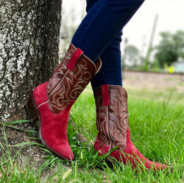 Womens Custom Suede Boots