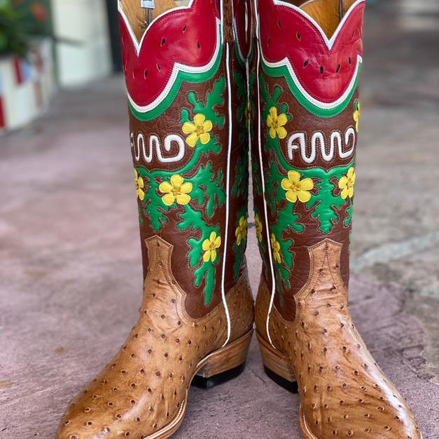 Womens Custom Ostrich Boots