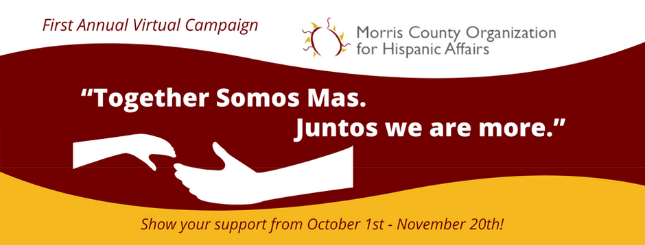 "Announcing our First Annual Virtual Campaign: ""Together Somos Mas. Juntos we are more."""