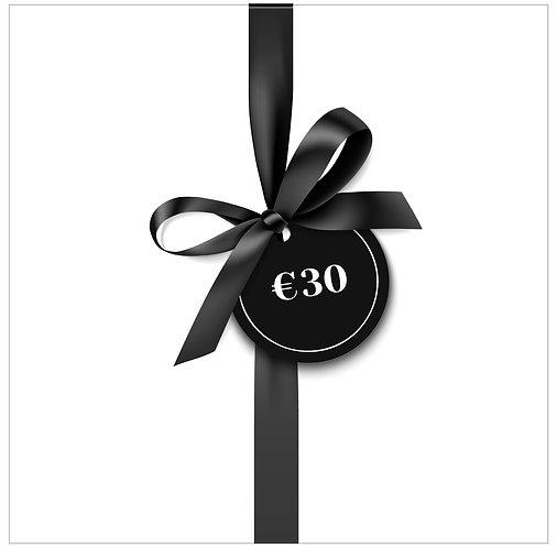 Cadeaubon €30