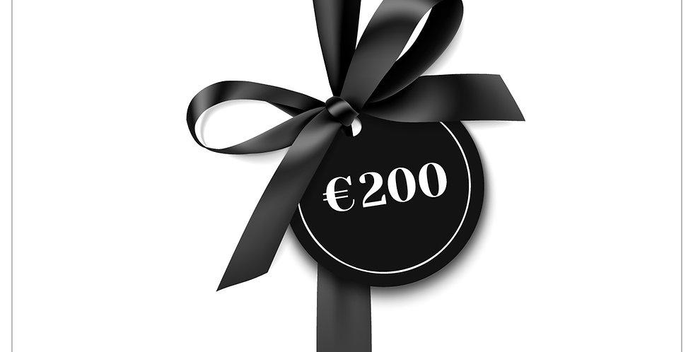Cadeaubon €200