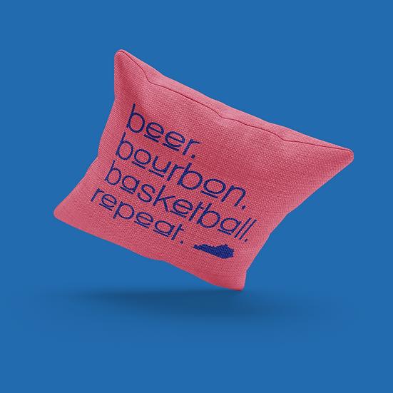 Beer, Bourbon, Basketball Pillow