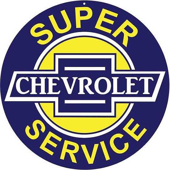 Super Chevrolet Service Sign
