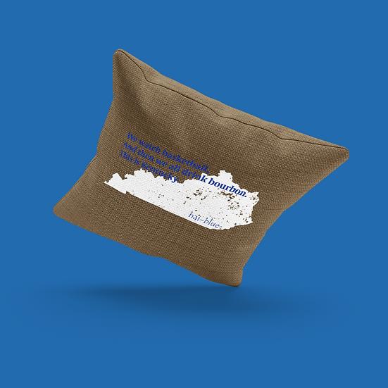 Hai-Blue Brand Haiku Pillow