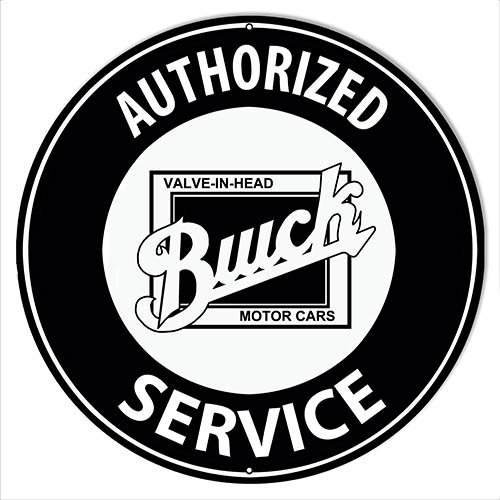 Authorized Buick Service Sign