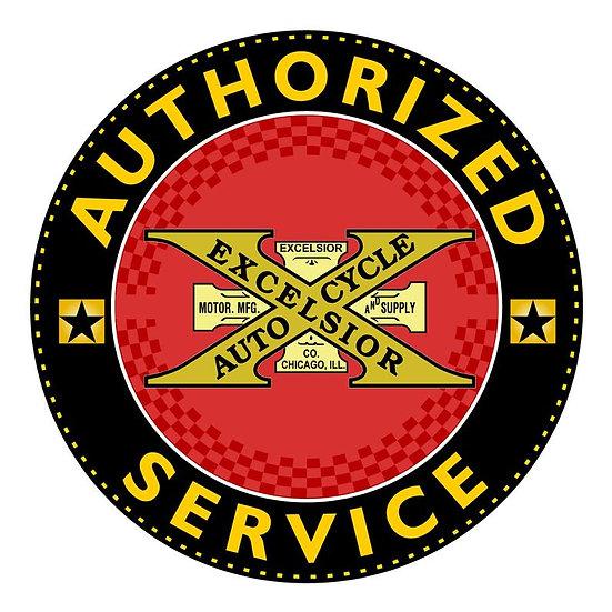 Vintage Excelsior Authorized Service Sign