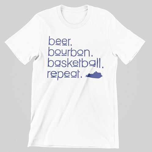 Beer Bourbon B-Ball Short Sleeve Tee
