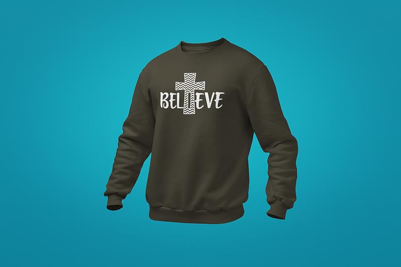 Believe Cross Sweatshirt