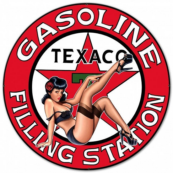 Texaco Bombshell Sign