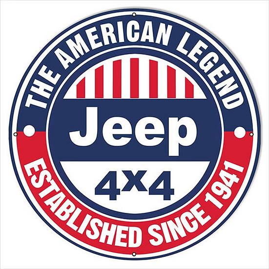 Jeep American Legend Sign