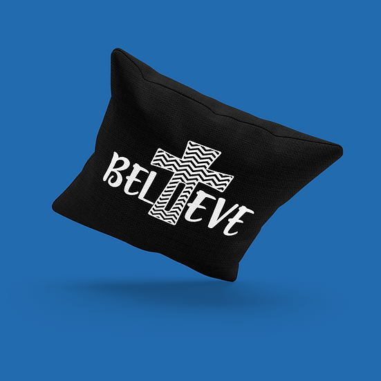 Believe Cross Pillow