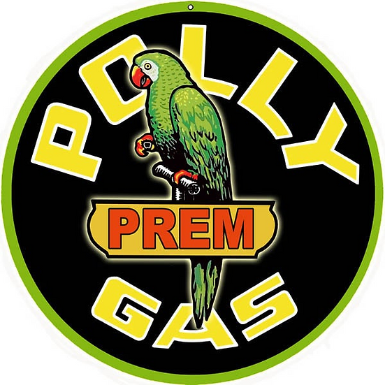 Vintage Polly Gas Sign