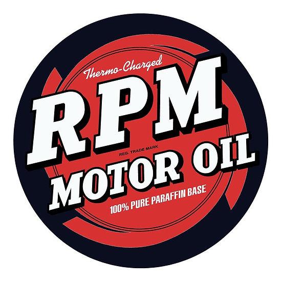 Vintage RPM Oil Sign