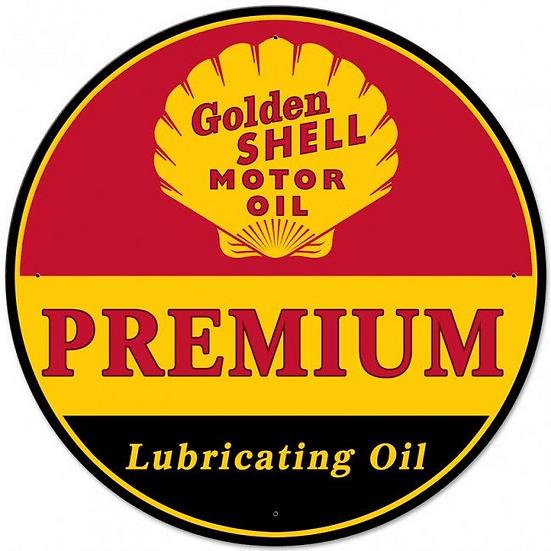 Golden Shell Oil Sign