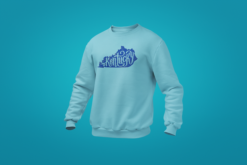KY Scroll Distressed Sweatshirt