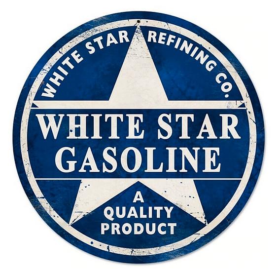 Vintage White Star Gasoline Sign