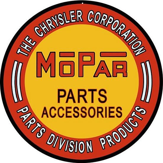 Mopar Parts Accessories Sign