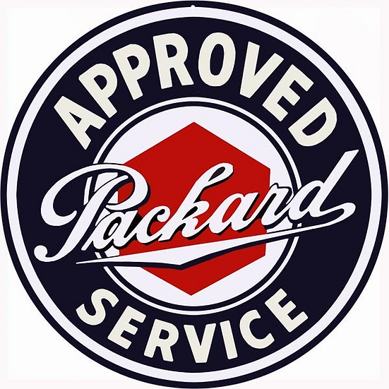 Approved Packard Service Sign
