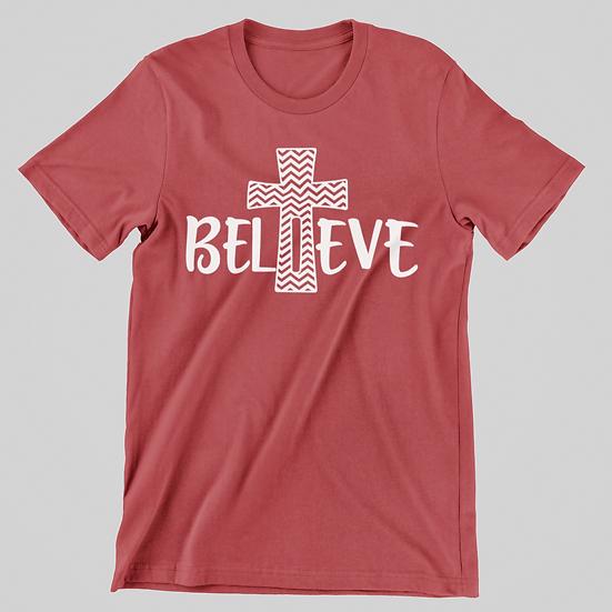 Believe Cross Short Sleeve Tee