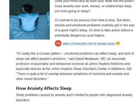 Sleeping With Anxiety