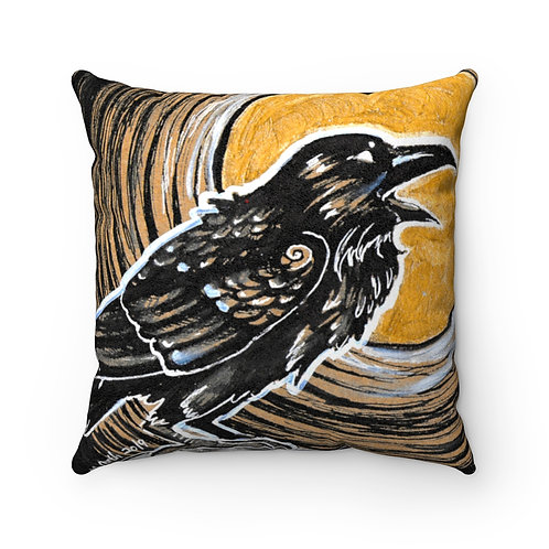 Faux Suede Square Pillow- Night of the Dead