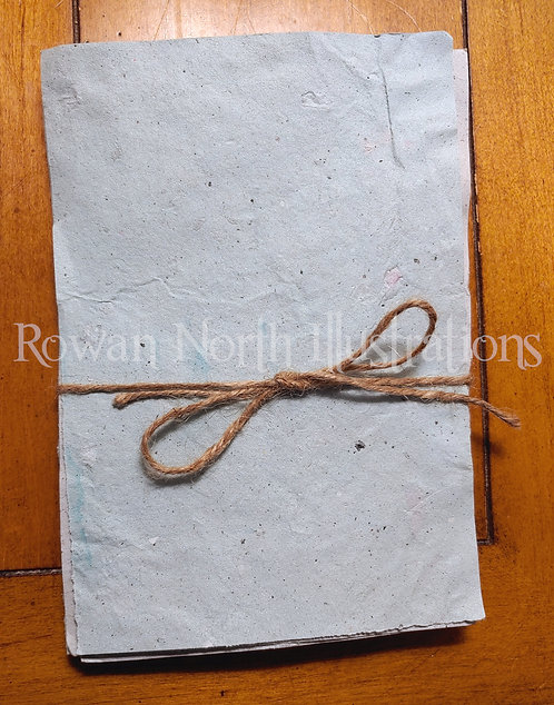 Handmade Recycled Paper 5x7 Set of 5- Blue