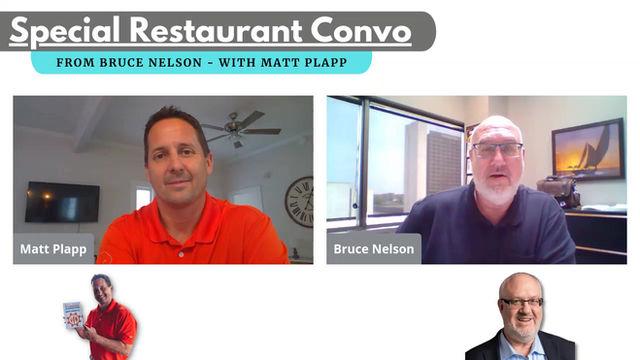 Special Restaurant Conversation w/Matt Plapp