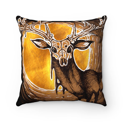 Faux Suede Square Pillow- All Souls Guide