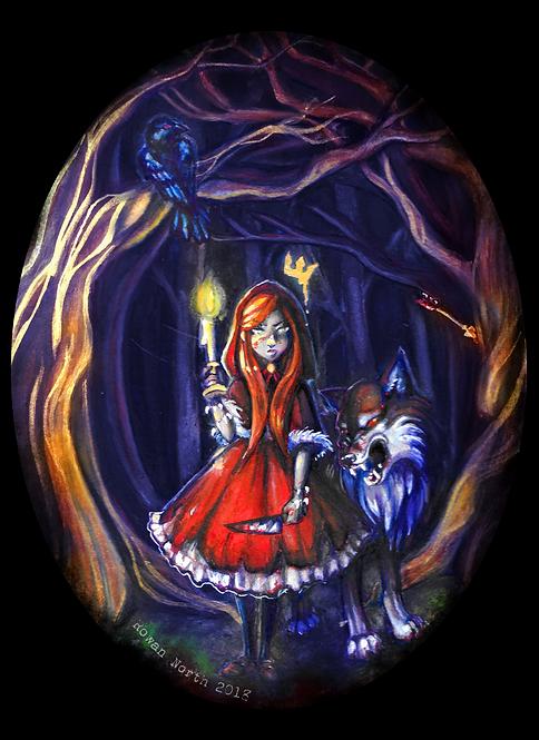 Little Red Riding Hood 8x10 Print