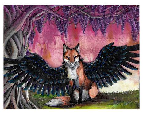 The Winged Fox 8x10 Print