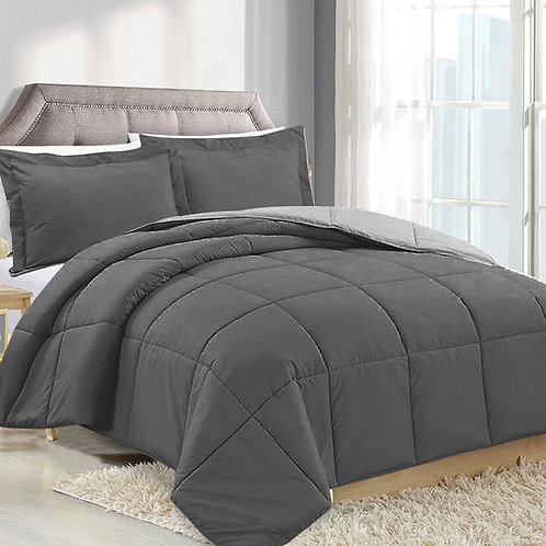 CHARCOAL/SILVER REVERSIBLE COMFORTER