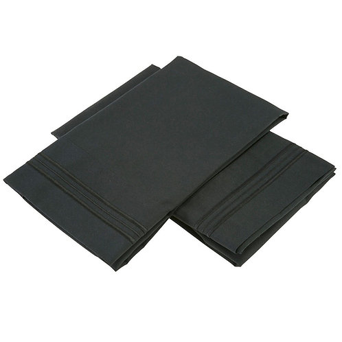 BLACK PILLOWCASES