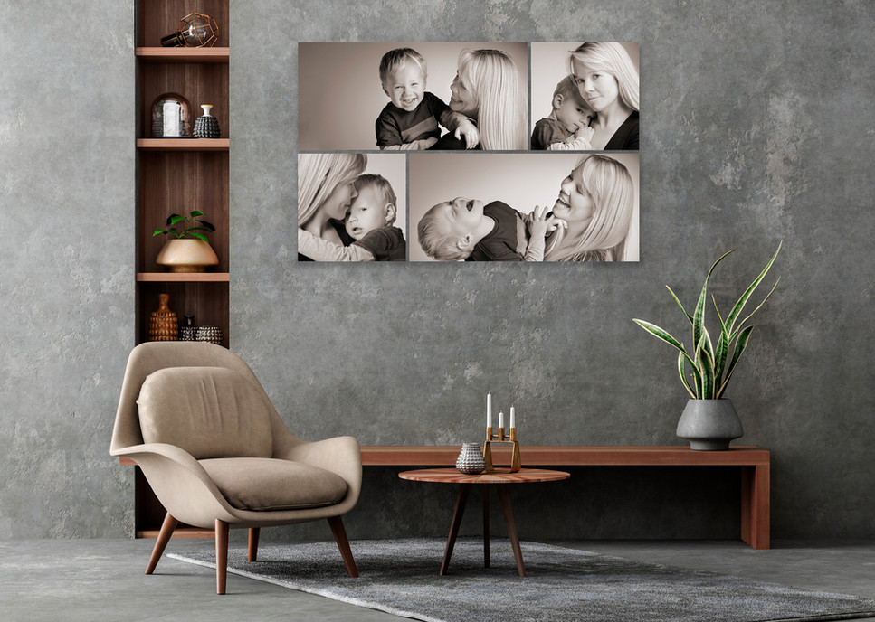Kristy Horne and her son B&W photo.jpg