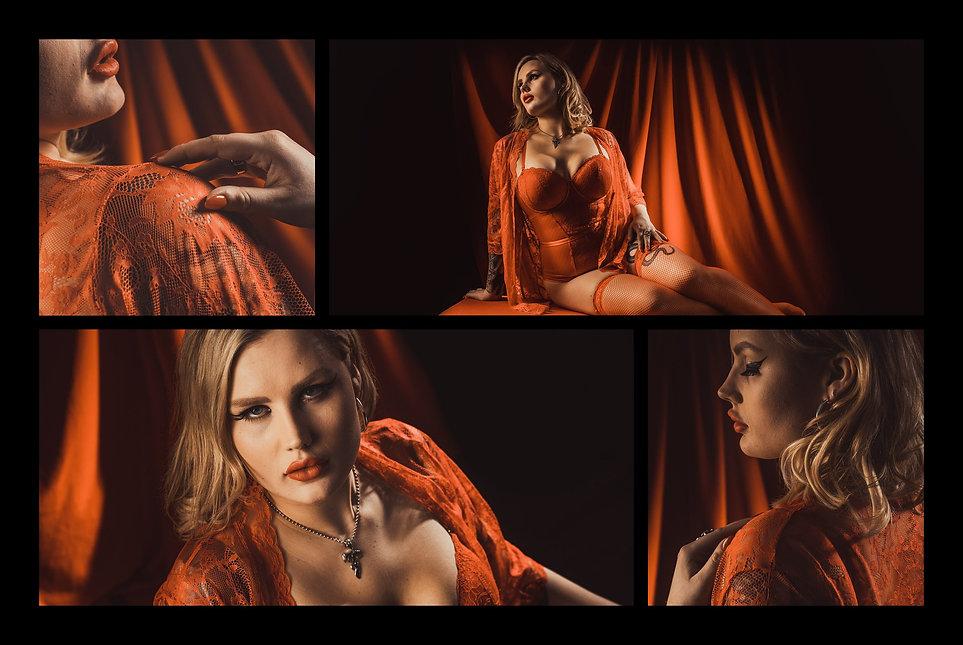 Grace red lingerie,  the boudoir photos