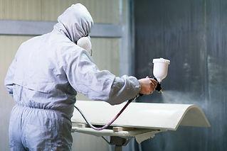 Man Airbrushing