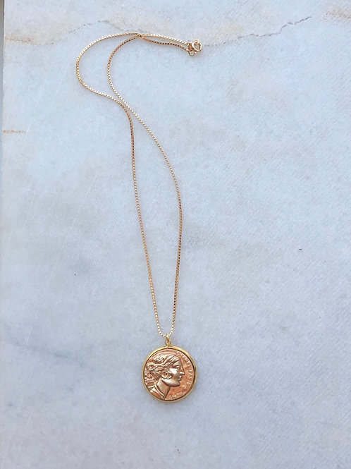 LARGE CHANEL COIN NECKLACE - REWORKED VINTAGE  COLLECTION