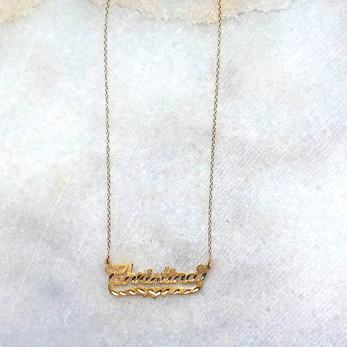 CLASSIC NAME PLATE NECKLACE